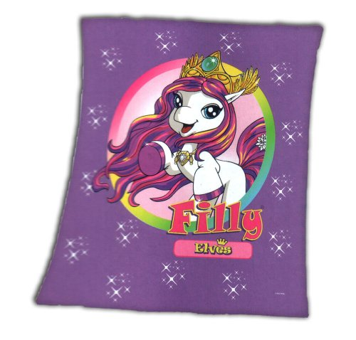 Filly Elves Decke Fleecedecke 120x140 Kuscheldecke lila