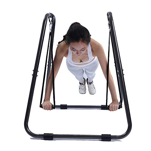 Dip-Stationen Klimmz/üge Reck Indoor Barren Sandbag Regal Indoor Fitnessger/äte