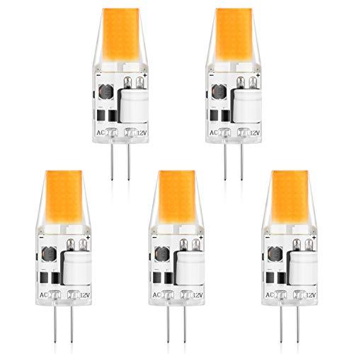 300lm 3W ersetzt 30W Halogenlampen Creyer 5er Pack G4 LED Lampen 12V AC//DC G4 LED Leuchtmittel Birne Warmwei/ß 2900K Kein Flackern Nicht Dimmbar