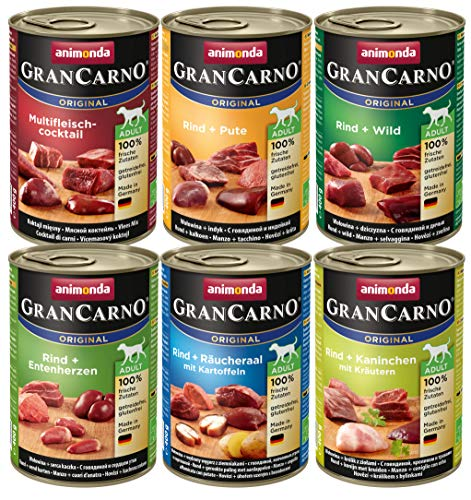 animonda Gran Carno adult Nassfutter erwachsene Mix 2 6x 400 g