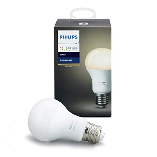 Philips Hue White E27 LED Lampe Erweiterung dimmbar,es Licht steuerbar via App kompatibel mit Amazon Alexa Echo Echo Dot