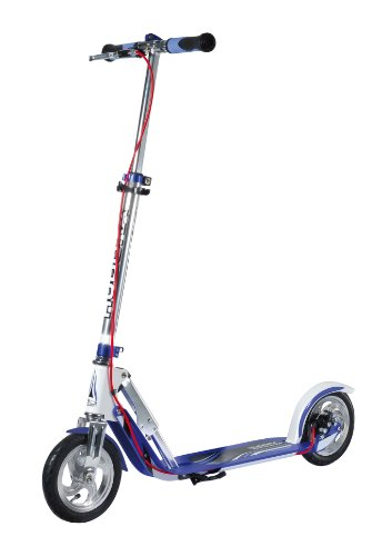 HUDORA BigWheel® Air Dual Brake Luftreifen-Scooter mit Handbremse - Big Wheel Tret-Roller, City Scooter