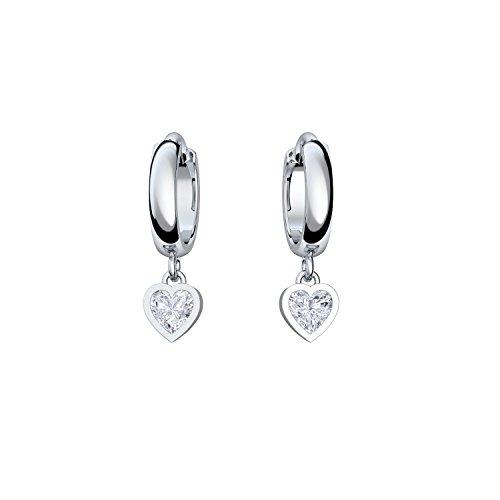 0adabcfdd97e Creolen Herz Herzform  Geschenk Freundin in Silber 925 inkl. Luxusetui mit  Gravur