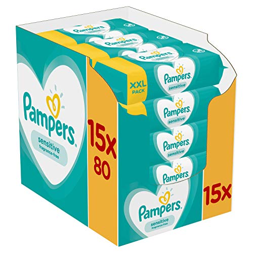 Pampers Sensitive�cher 15 Packungen 1200�cher