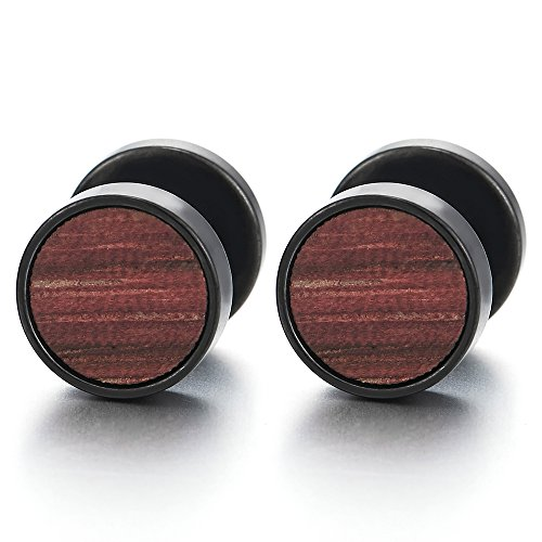 Kreis mit Holz Fake Plugs Cheater Tunnel Gauges 01