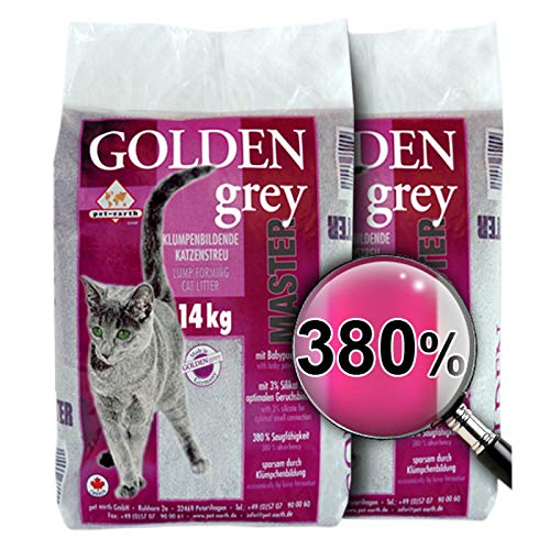 pet earth Golden Grey Master Babypuderduft 2x14kg