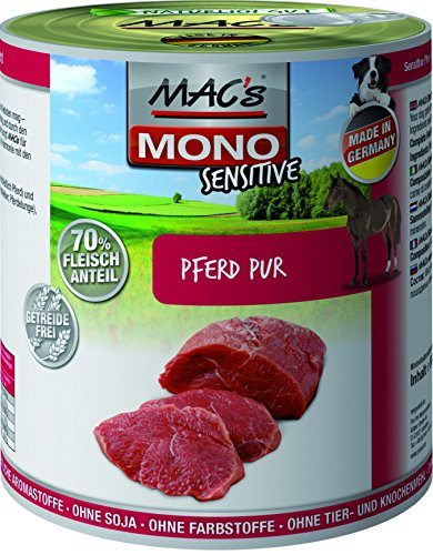 MACs Dog Mono Sensitive Pferd Pur 18 x 800g