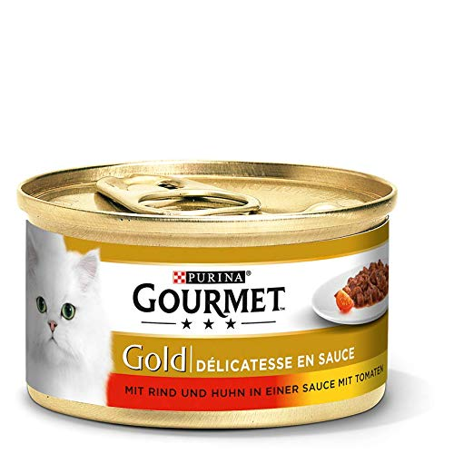 Gourmet Gold Delicatesse in Sauce Dosen 12x 85 g