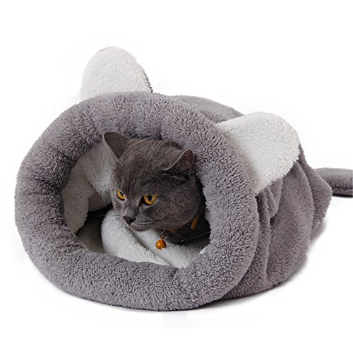 PAWZ Road Washable Cat Sleeping Bag Tent Dog Bed Snuggle Cave Cute Sack Mat for Kitten and Puppy