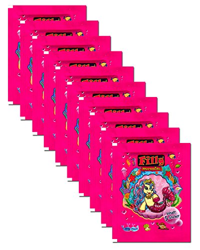 Blue Ocean   Mermaids Sticker Sammelbilder   10 Booster Packungen 50 Sticker
