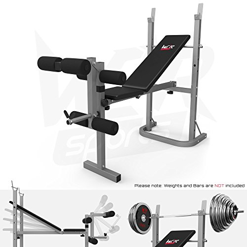 We R Sports® klappbare Gewicht Rack Teller Halter 3 Rückenlehne geneigt Home Gym Bench