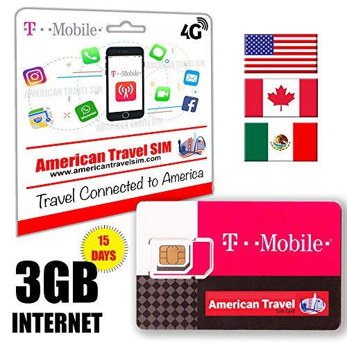 3GB DATA USA Canada & Mexiko   Anrufe internationale 15