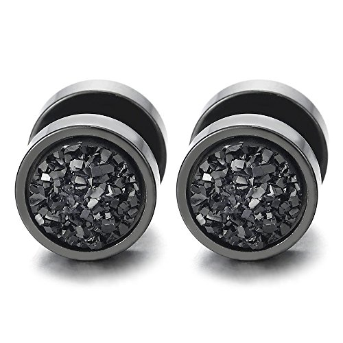 10MM Herren Kreis mit Funkeln Fake Plugs Ohr Cheater Tunnel Gauges