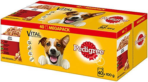 Pedigree Nassfutter Adult in Gelee 40 Portionsbeutel 1x 40x 100 g