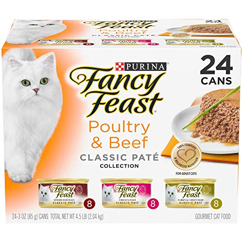 Purina Fancy Feast Wet Cat Food, Classic, Poultry & Beef Feast Variety Pack, 3-Ounce Can by Purina Fancy Feast