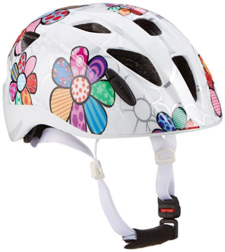 Alpina Kinder Radhelm Ximo Flash White Flower 49 54