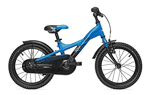 S'COOL Kinder XXlite Alloy 16 Kinderfahrrad, Blue/Black Matt, Zoll