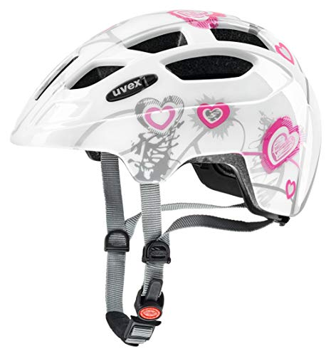 uvex Unisex Jugend finale junior heart white pink 51 55