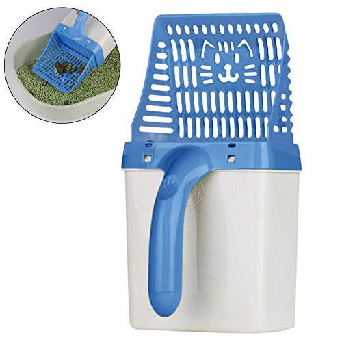 Ailyoo Cat Litter Sifter Scoop System Kitty Litter Scooper with Extra Waste Bags by Neater Litter Scooper