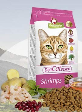 GranataPet Cat Delicatessen Shrimps Adult, 1er Pack (1 x 400 g)