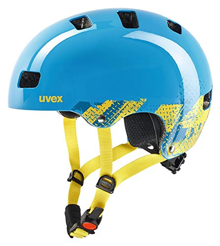 Uvex Kinder Kid 3 Fahrradhelm blau (blackout blue) 51-55 cm