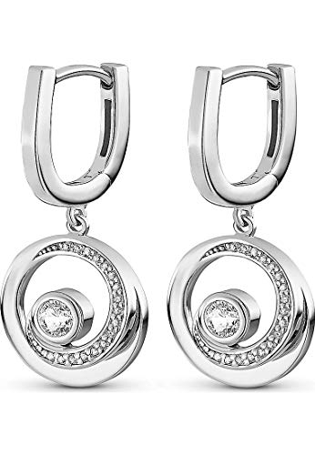 C Collection by CHRIST Damen Creole 925er Silber 36 Zirkonia One Size, silber