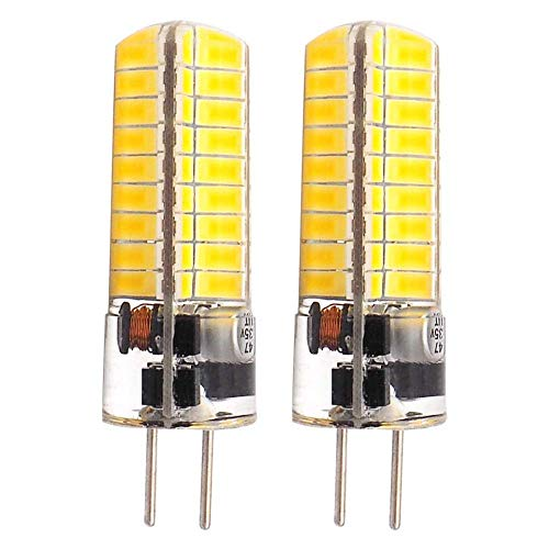 GLMING LED Leuchtmittel 3.5 W G5.3 72 5730 SMD,.3 Bi Pin DC12 V 24 V Silikon superhell,Warmweiß 2er Pack