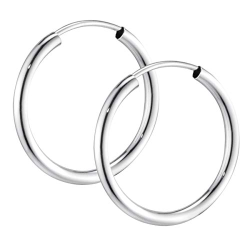 MATERIA Creolen Damen Herren 13 30 45 60mm   925 Sterling Kreolen Ringe   Made in Germany