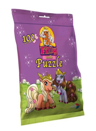 Noris Spiele 606030105 - Filly Elves Puzzle in Chipstüte100 Teile