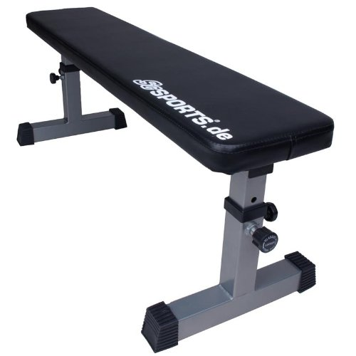 ScSPORTS Trainingsbank Flachbank höhenverstellbar   ideal´s Home Gym