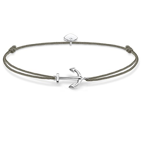 THOMAS SABO Damen Armband Little Secret Anker Anker Little Secret 925er Sterlingsilber, Nylon LS001-173-5