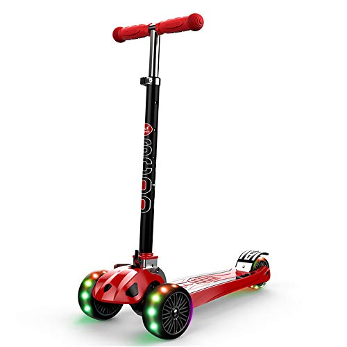 HTOOLA Kinder-Frosch-Roller DREI-Rad-Flash-Roller Roller Dia-Schere Auto Carry Light Weight Kickboard,D