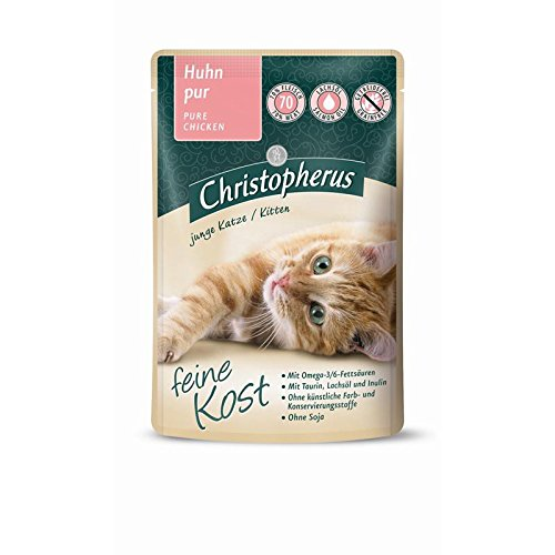 Christopherus Cat Kitten - Huhn pur | 12x 85 g Nassfutter