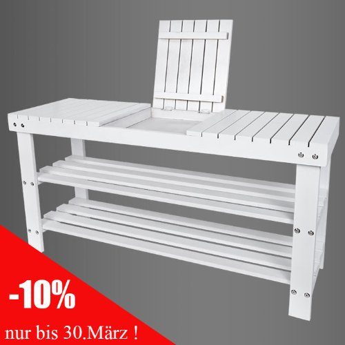 4 4 5 6 1368 schuhbank sitzbank schuhregal sitzkissen weiss. Black Bedroom Furniture Sets. Home Design Ideas