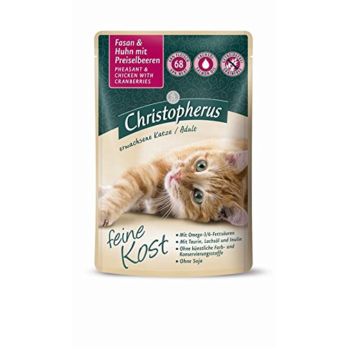 Christopherus Cat Adult - Kalb + Huhn mit Aloe Vera | 12x 85 g