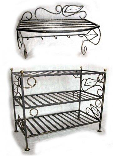 robuste schuhregale aus metall g nstig online kaufen. Black Bedroom Furniture Sets. Home Design Ideas