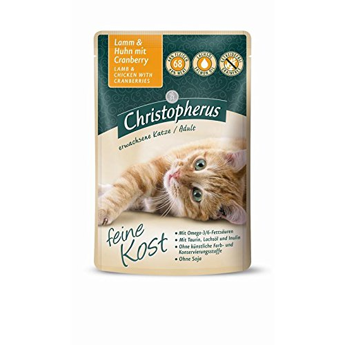 Christopherus Cat Adult - Lamm + Huhn mit Cranberry | 12x 85 g