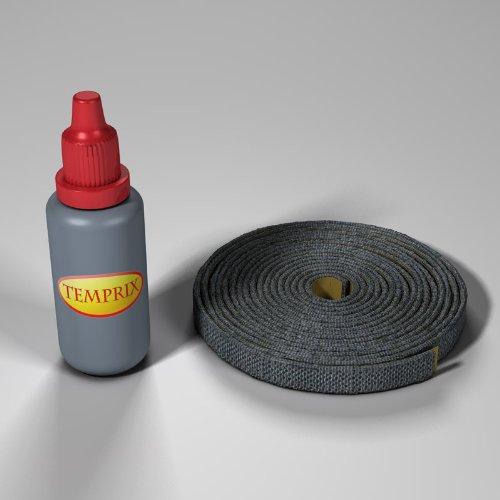 Kamindichtung Flach 10 X 2mm Gesamtlänge 3 Meter Farbe: Schwarz