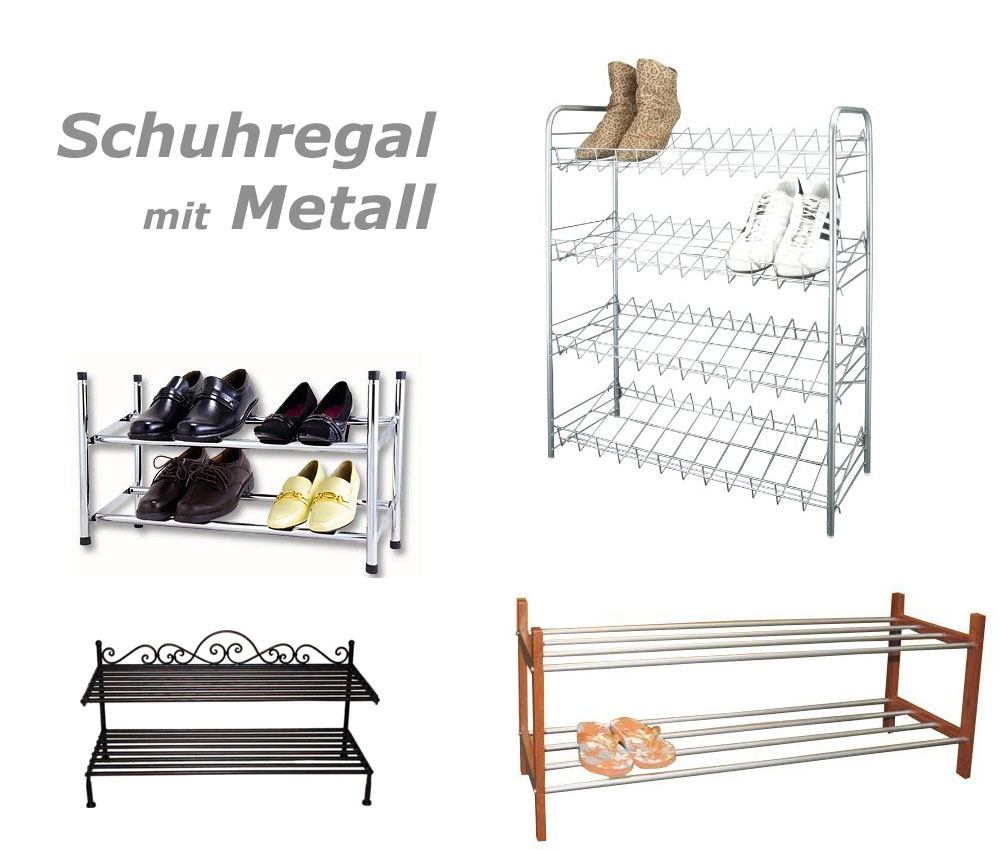 Metall Schuhregal