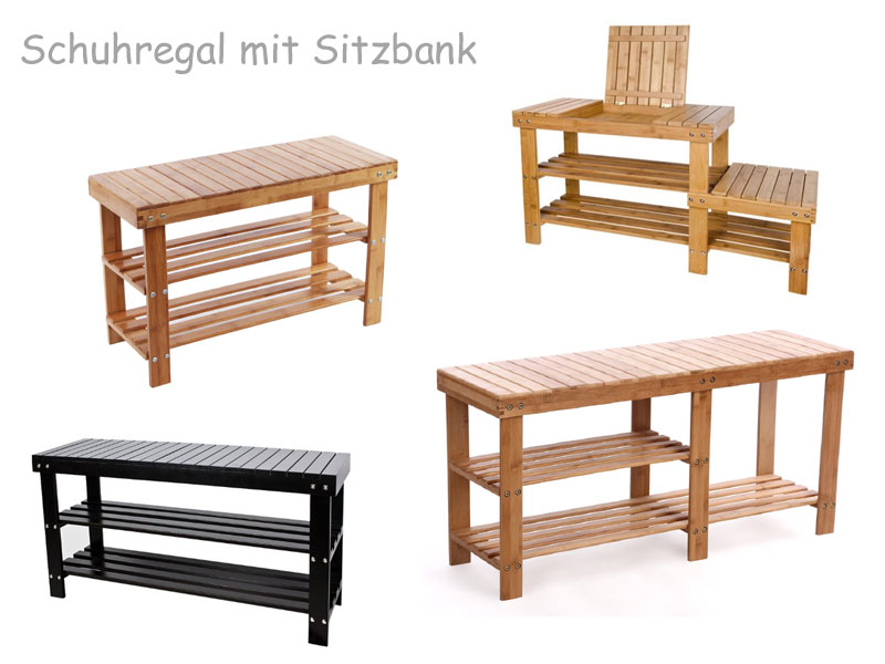 schuhregal mit sitzbank. Black Bedroom Furniture Sets. Home Design Ideas
